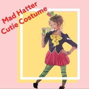 NIP MAD HATTER TWEEN SIZE CUTIE DRESS COSTUME HAT SHOE COVERS SET GIRLS LG 12/14